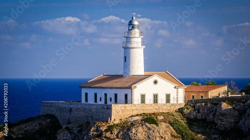 Fotobehang Vuurtoren Leuchtturm - Cala Ratjada - Mallorca