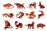 chinese zodiac animals - 208794257