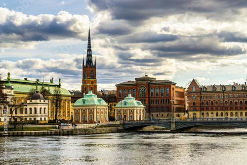 Fotobehang Stockholm Historical buildings in Stockholm, Sweden