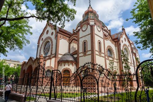 Foto Murales Subotica, Vojvodina / Serbia, June 11, 2018, Renovated Jewish Synagogue Outside