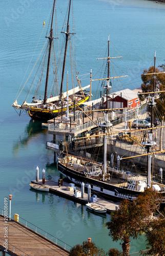 Fotobehang Zeilen Ships in Dana Point