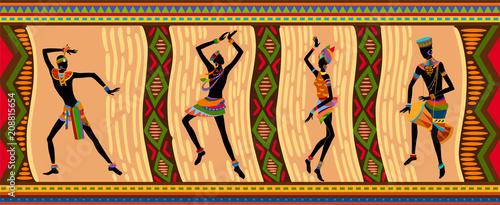 Ethnic dance african people © Iuliia