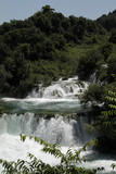 Spectacular waterfalls in Krka national park, Croatia