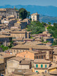 Panoramic view in Arpino, ancient town in the province of Frosinone, Lazio, central Italy.