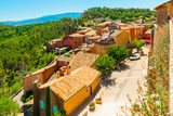 View to the colorful and ochre village of Roussillon, Provence, France