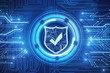 Leinwanddruck Bild - Web safety and protection wallpaper