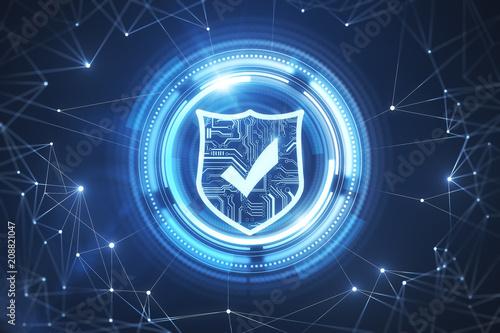 Leinwanddruck Bild Web safety and protection backdrop