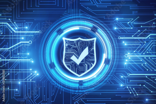Leinwanddruck Bild Web safety and protection wallpaper