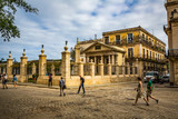 HABANA, CUBA-JANUARY 13: City street on January 13, 2018 in Habana, Cuba. Street view of Habana