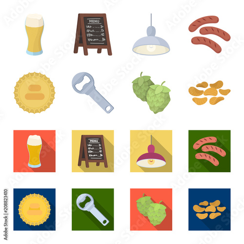 Bar, pub, restaurant, cafe .Pub set collection icons in cartoon,flat style vector symbol stock illustration web.