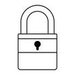 isometric padlock isolated icon vector illustration design