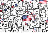 Cartoon people - american national day - 208839432
