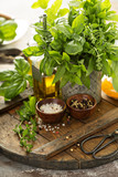 Cooking with fresh herbs - 208845207