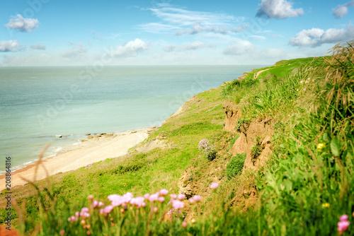 Fotobehang Beige paysage de la côte d'Opale