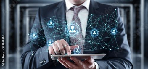 Leinwanddruck Bild Human Resources HR management Recruitment Employment Headhunting Concept