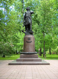 Monument to the Russian Emperor Peter the Great in the Izmailovo Estate. - 208871889