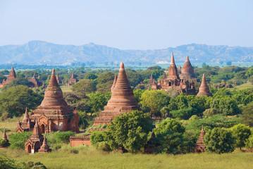 Ancient Bagan on a sunny day. Myanmar (Burma)