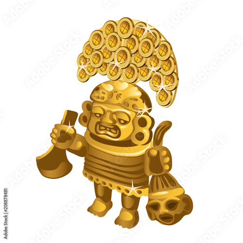 Inca Indian Ritual Figurine From Gold A Symbol Of Sacrifice Is