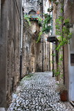 Urban scenic in Sermoneta, Italy - 208880848