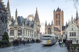 Gent, Belgium at day, Ghent old town - 208885063