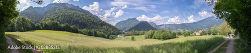 Grüne Landschaft, Hochplateau, nahe Bad Reichenhall, Panorama - 208885213