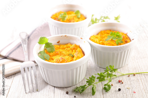 carrot flan or souffle - 208885250