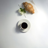 Summer composition of coffee and accessories