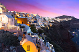 The famous sunset at Santorini in Oia village - 208891046
