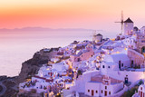 The famous sunset at Santorini in Oia village - 208892473