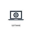 Software icon. Simple element illustration
