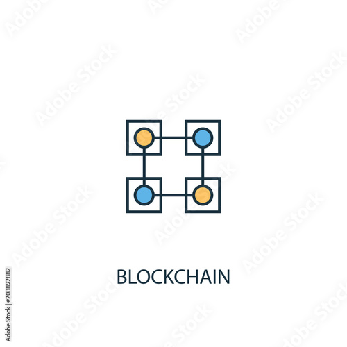 Blockchain Line icon. Simple element illustration
