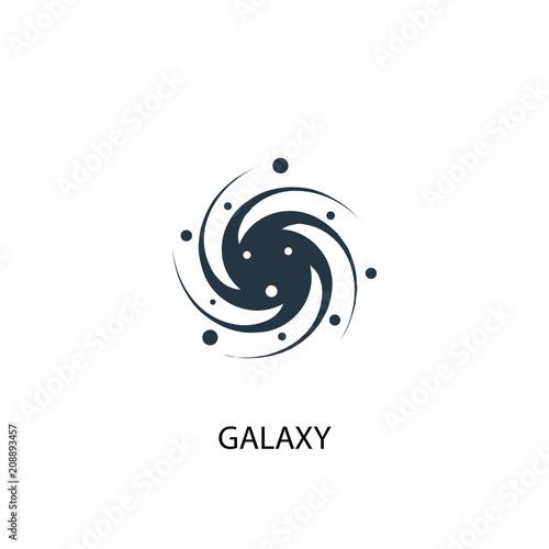 galaxy icon. Simple element illustration