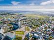 Leinwanddruck Bild - Reykjavik Iceland city scape frop the top with Hallgrimskirkja church. Aerial photo. religious building