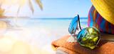 Summer vacation; enjoy happy holiday on the Summer beach - 208899268