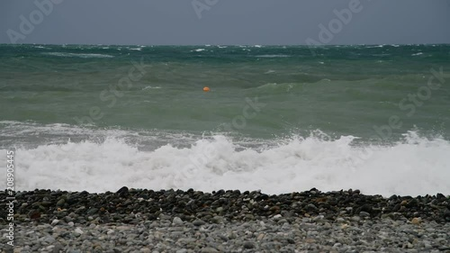 Fragment of Black Sea during the storm