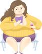 Girl Fat Positivity Read Book Illustration - 208908611