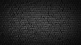 Black hexagonal background abstract 3D render - 208912013