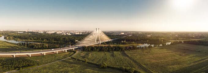 Redzinski bridge in Wroclaw in Poland © maciej