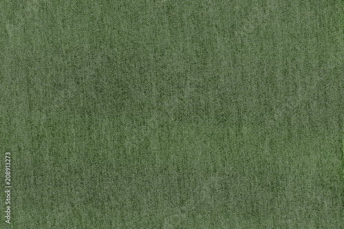 Green fabric texture background. Empty abstract cloth backdrop