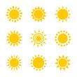 Sun icons illustration