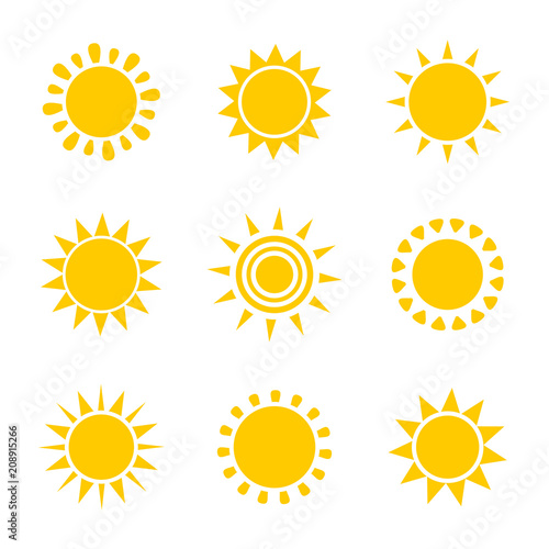 Sun icons illustration
