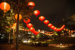 Chinese new year lanterns decoration in park