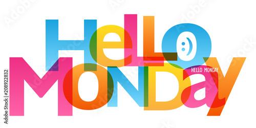 HELLO MONDAY :) typography banner