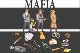 Mafia Taking Hostage And Their Equipment - 208929846
