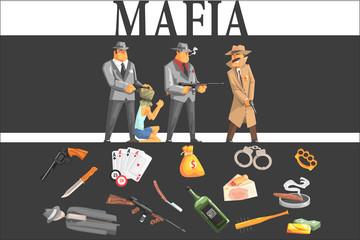 Mafia Taking Hostage And Their Equipment © topvectors