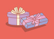 gifts boxes presents icons vector illustration design