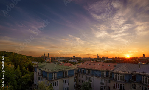 Aluminium Moskou Golden hour