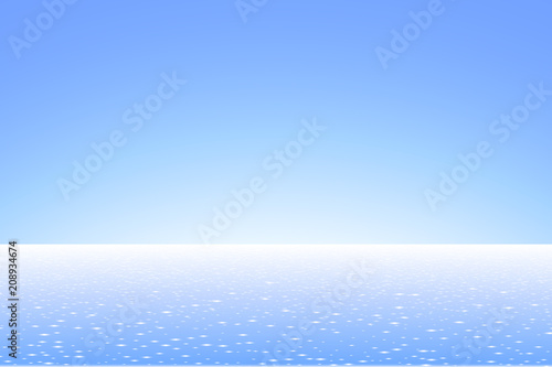 Sea landscape. Vacation background. Flat style.