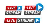 Livestream Button Pack 01 - 208943020