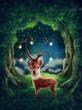 Leinwanddruck Bild - Little deer